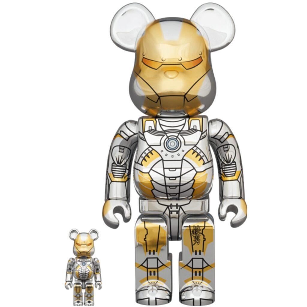 Bearbrick Sorayama Ironman 100%/400%