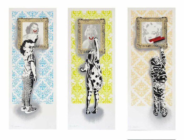 Smile Print Set (Astris, Edgar And Indigo) 3 Prints