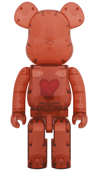 Emotionally Unavailable Clear Red Heart 1000%