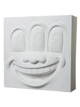 Three Eyed Smiling Face - White