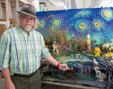 Ron English in studio - Profile photo at 2B Art & Toys Gallery
