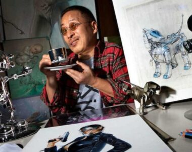 Hajime Sorayama in studio - Profile photo on 2B Art & Toys Gallery