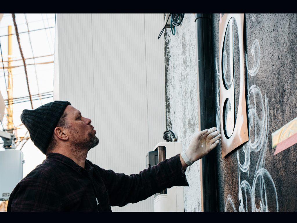 Nick Walker painting - Profile photo on 2B Art & Toys Gallery