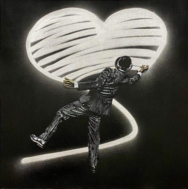 Love Vandal Black and White Silver
