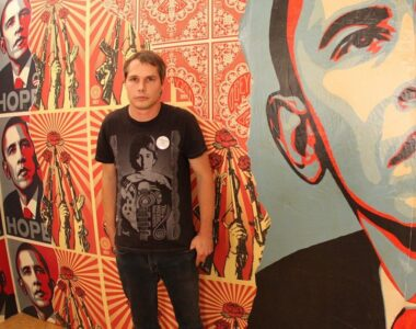 Shepard Fairey - profile picture on 2B Art & Toys Gallery