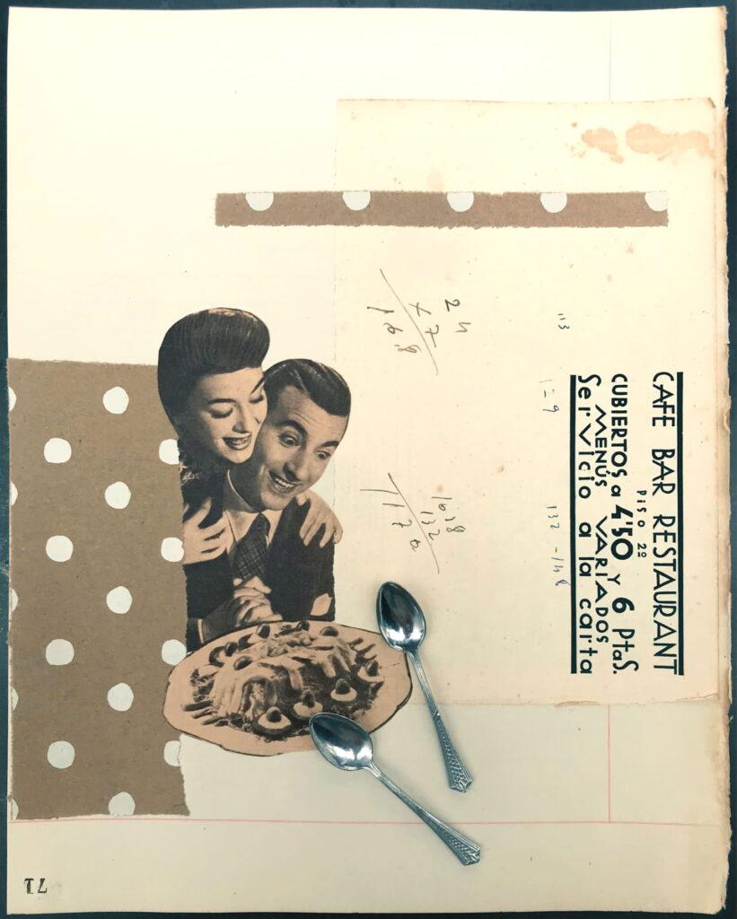 Gracia Ribalaiga paper artwork - A La Carta Bon Apetit