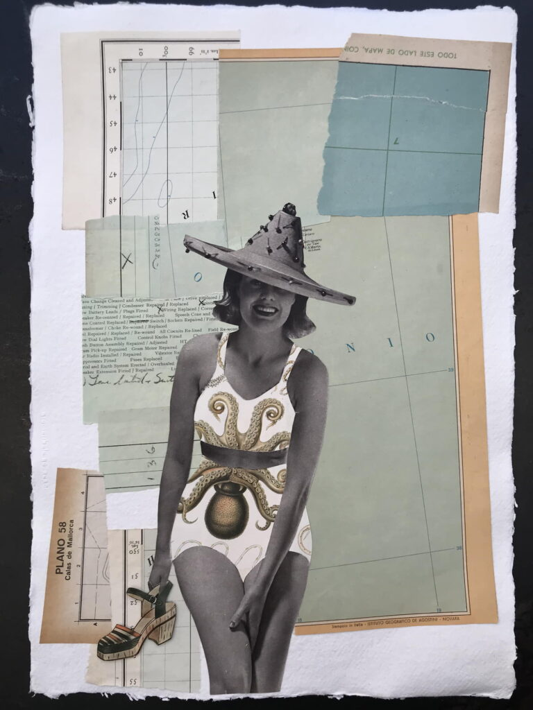 Gracia Ribalaiga paper artwork - Sur La Plage
