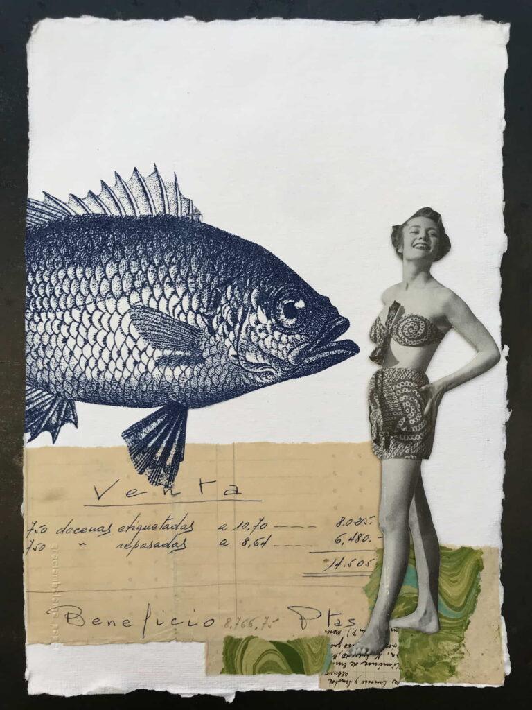 Gracia Ribalaiga paper artwork - Look Right