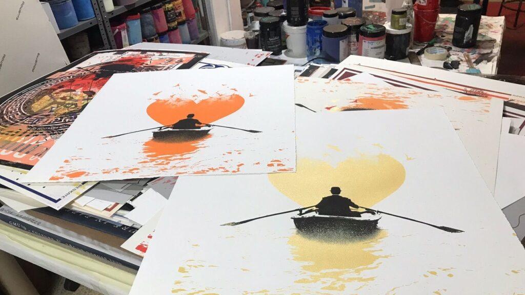 "Nick Walker - ""Love Bats"" print release printing process"
