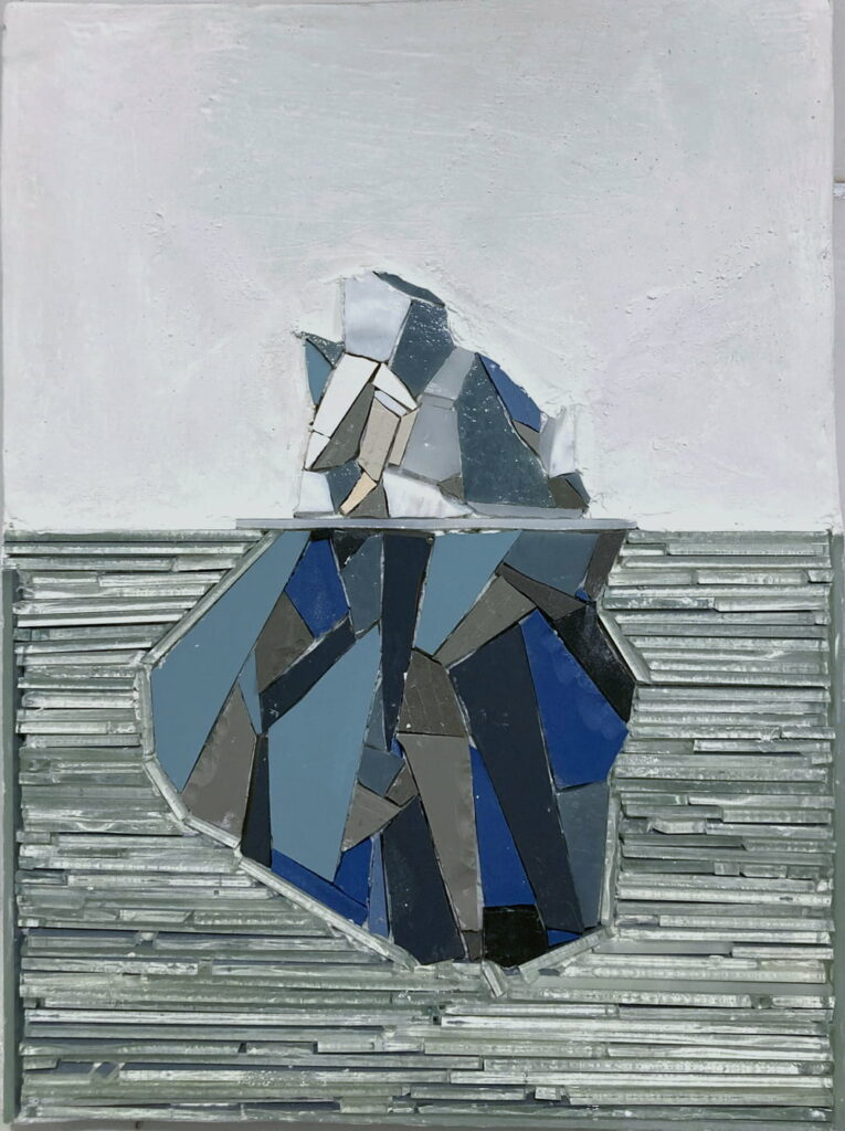 Ruth Minola Scheibler mosaic art - Iceberg
