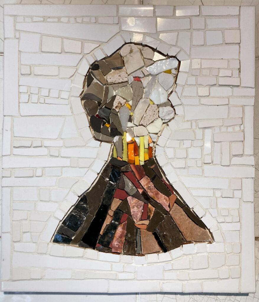 Ruth Minola Scheibler mosaic art - Vulcanoe