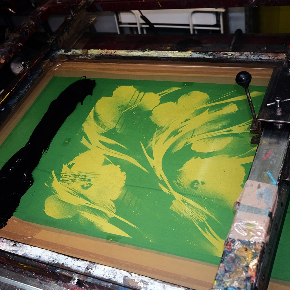 BLCKFLWRS Print making process