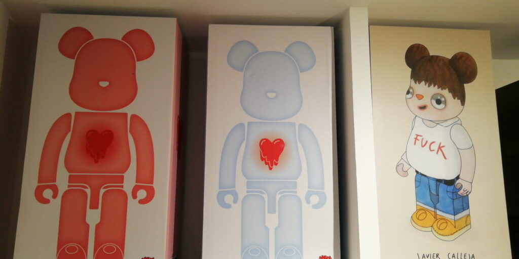 Bearbrick collection at 2B Art & Toys Gallery