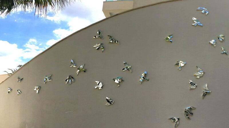 Prism Flock art installatio by Ruth Minola Scheibler