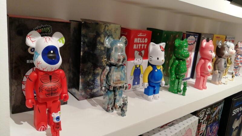 Bearbrick figures at 2B Art & Toys Gallery