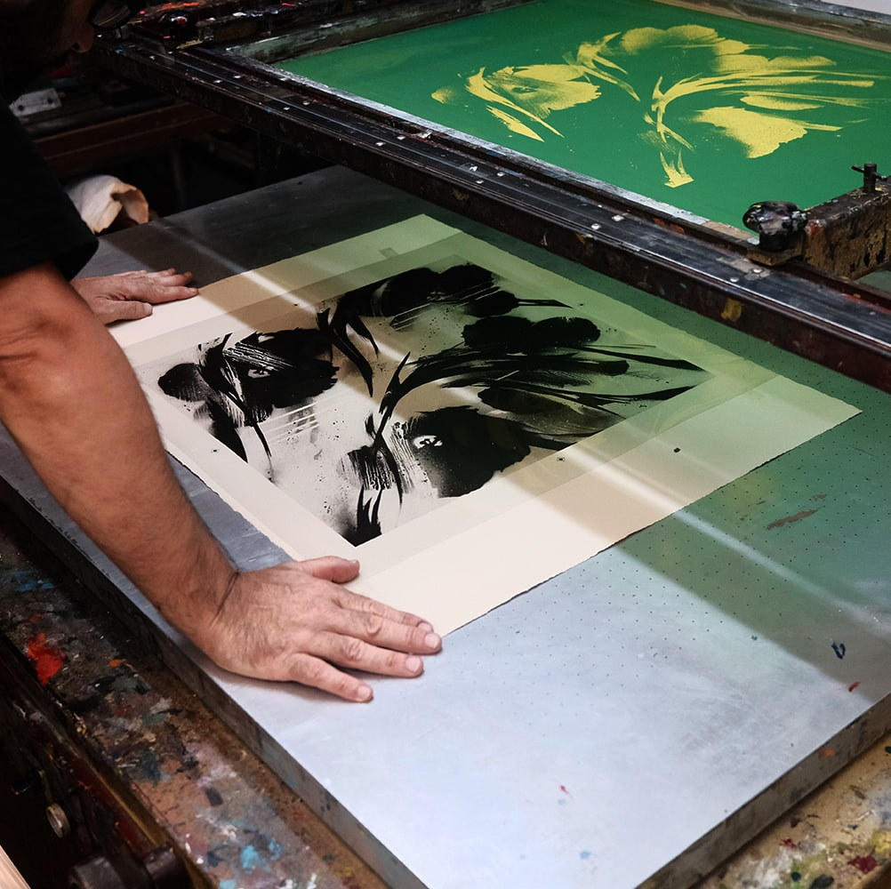 SheOne - BLCKFLWRS print making