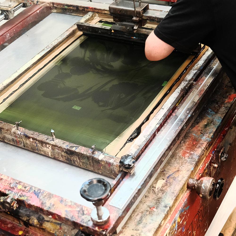 SheOne's print making process