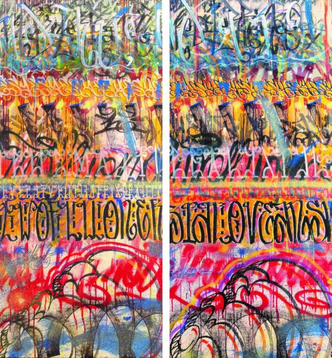 White Yes/ Black Yes (Diptych)