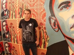 Shepard Fairey profile picture at 2B Art & Toys Gallery