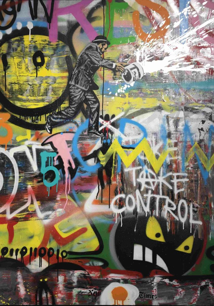 Take Control Painting by Nick Walker