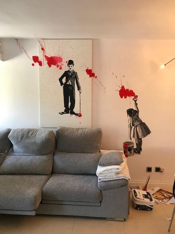Carolina Adan Charlie Chaplin artwork