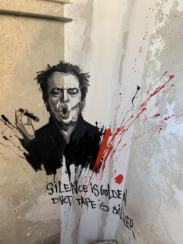 Carolina Adan - Jack Nicholson mural