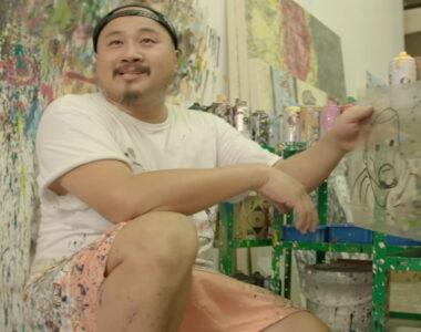 Madsaki in studio profile photo on 2B Art & Toys Gallery
