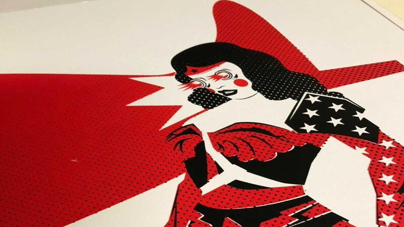 Wonder Woman limited edition print by setdebelleza