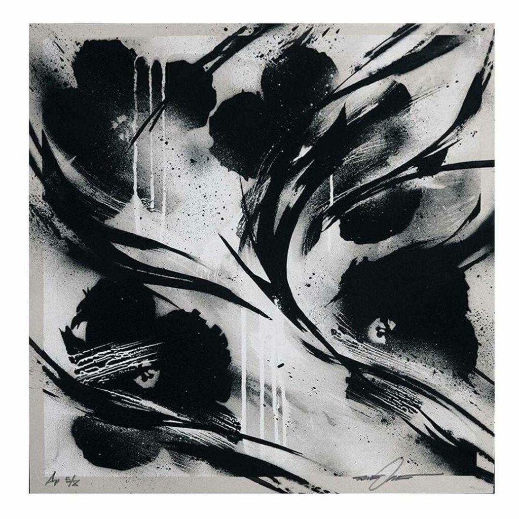 sheOne, BLCKFLWRS, Silkscreen print, Artist Proof Version, 50 x 49,7 cm, 2021