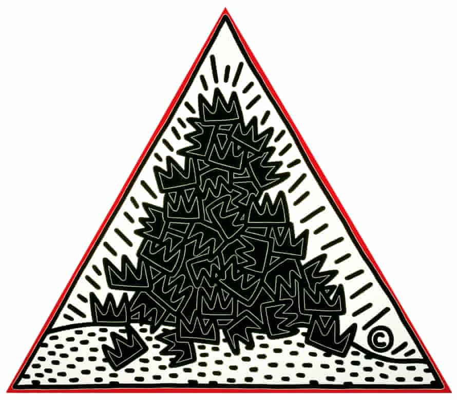 Keith Haring - ''A Pile of Crowns for Jean-Michel Basquiat''