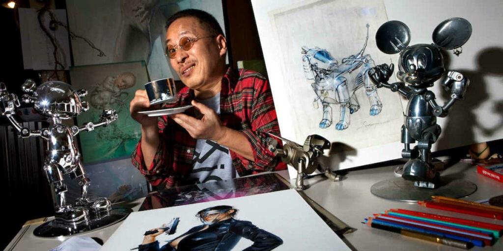Hajime Sorayama in his studio